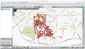 mappa distribuzione volantini